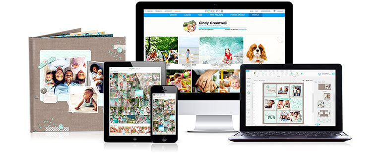 FOREVER® products for printing and sharing photos.