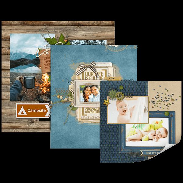 Create custom Page Prints with Artisan - Digital Scrapbooking Software