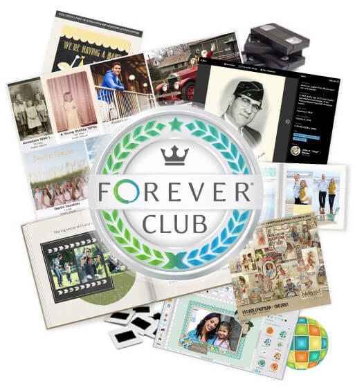 FOREVER Club Savings Plan for digital scrapbooking and printing