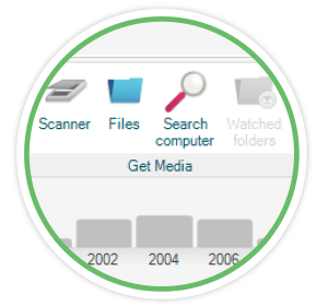 Quickly search through all of your media with FOREVER® Forever Historian - Photo Management Software