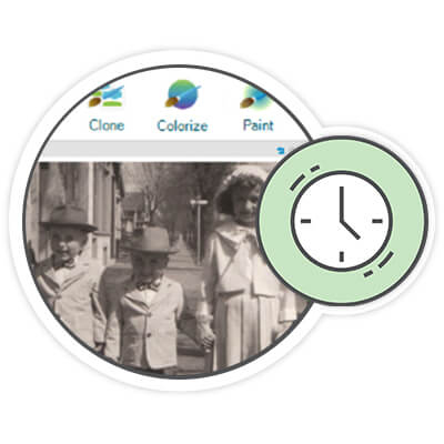 Restore old photos with FOREVER® Historian - Photo Management Software