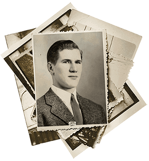 Photo of War Hero Jack Snyder digitized through FOREVER Scanning Services
